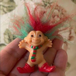 Tiny troll wearing tie toy figurine by Russ